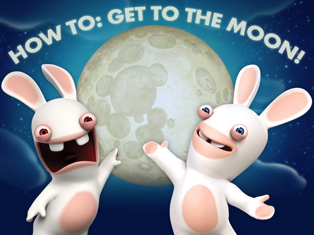 Check out the Rabbids' 10 easy steps for getting to the Moon!