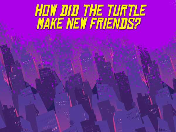 How did the Turtle make new friends?