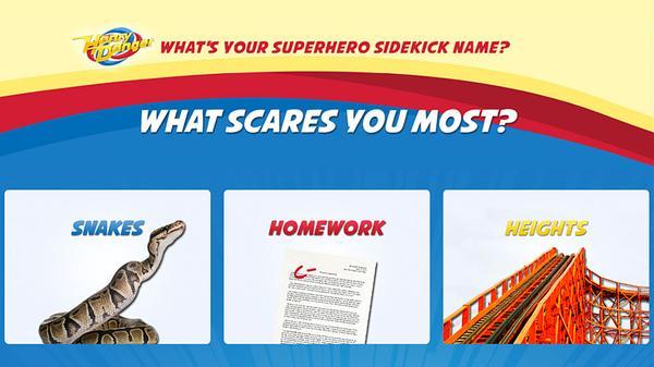 What's Your Superhero Sidekick Name? Screenshot Picture