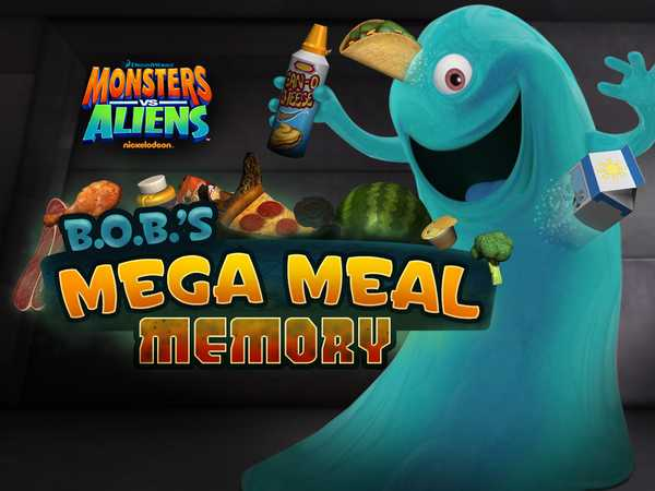 Monsters Vs Aliens: BOB's Mega Meal Memory