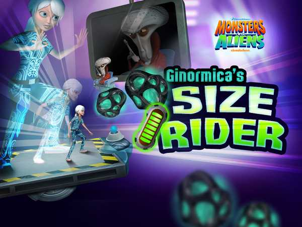 Monsters Vs Aliens: Ginormica's Size Rider