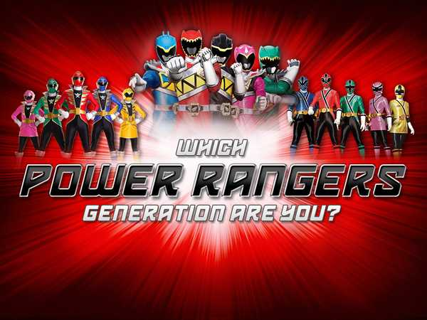 Power Rangers: Which Power Rangers Generation Are You?
