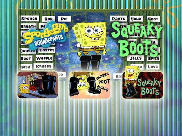 SpongeBob SquarePants: Squeaky Boots Blurbs