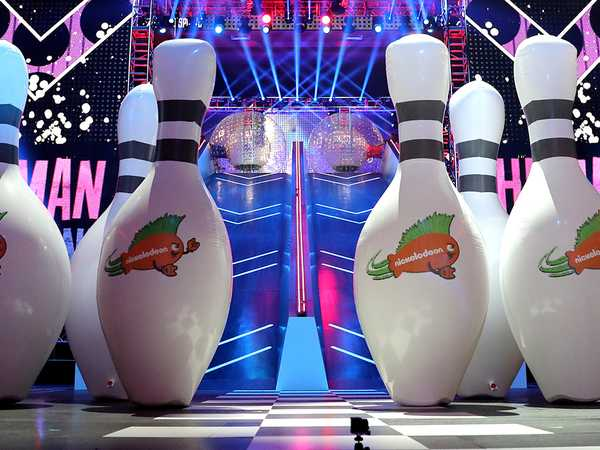 "Kids' Choice Sports 2016: ""Michael Strahan Hosts the Human Bowling Challenge with Jagger Eaton and Tony Hawk"""