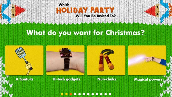 Which Holiday Party Will You Be Invited to? Screenshot Picture