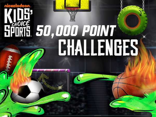 Promo type 1: Kids' Choice Sports 2016: 50,000 Point Challenges