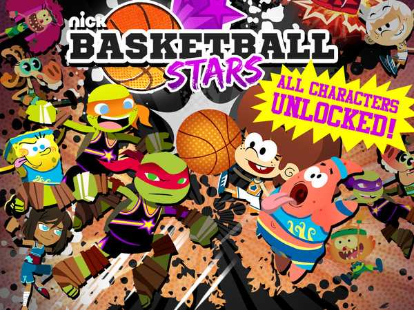 Promo type 3: Nick Basketball Stars ALL CHARACTERS UNLOCKED TMNT/LOUDHOUSE
