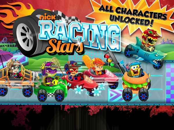 Type 4: Nickelodeon Racing Stars all characters unlocked