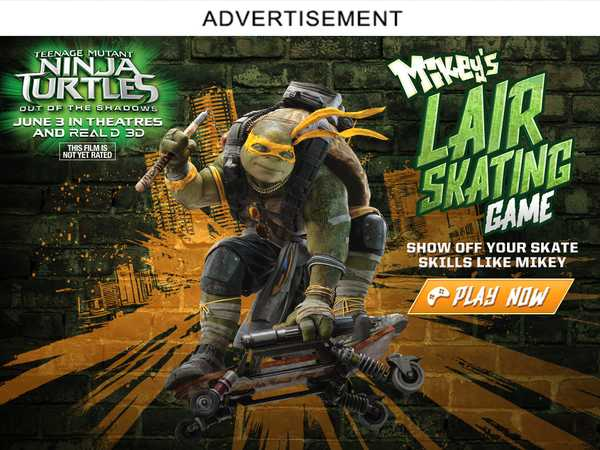 Type 4: Mikey's Lair Skating Game Ad