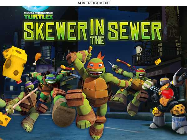 (AD) Teenage Mutant Ninja Turtles: Skewer in the Sewer
