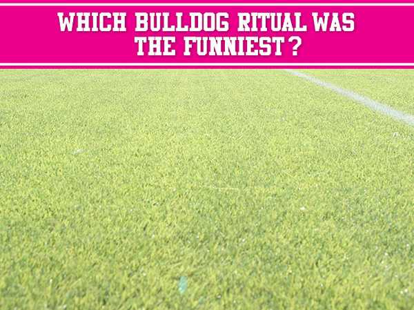 "Which Bulldog ""ritual"" was the funniest?"