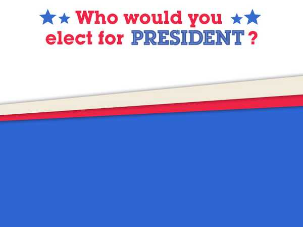Who would you elect for President?