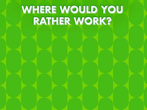 Where Would You Work?