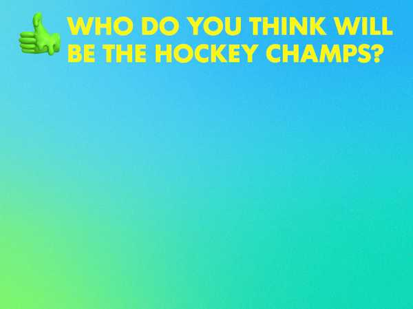 Who Will Be the Hockey Champs?