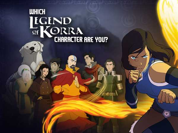 Promo type 1: Legend of Korra: Which Legend of Korra Character Are You?