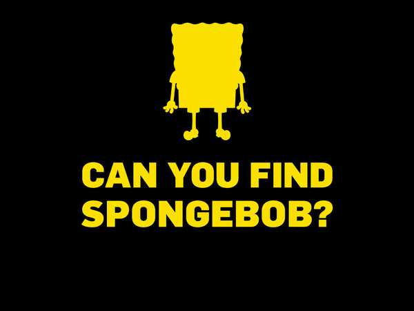 SpongeBob SquarePants: Can You Find SpongeBob?