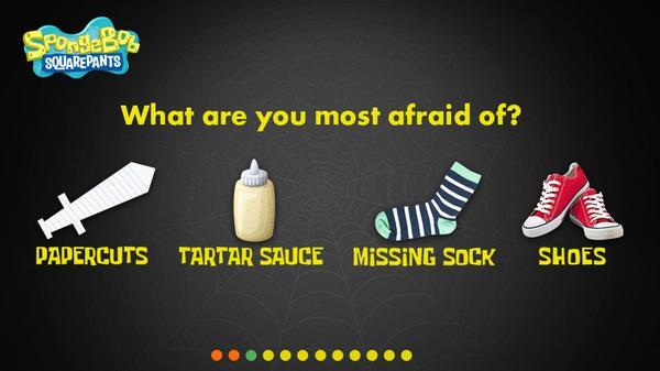 What's Your SpongeBob Halloween Costume? Screenshot Picture