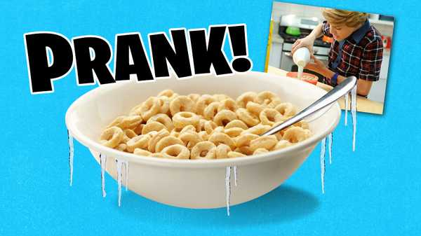 "How to Prank: ""Frozen Cereal"""