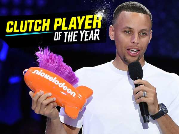"Kids' Choice Sports 2016: ""Steph Curry Wins Clutch Player of the Year!"""
