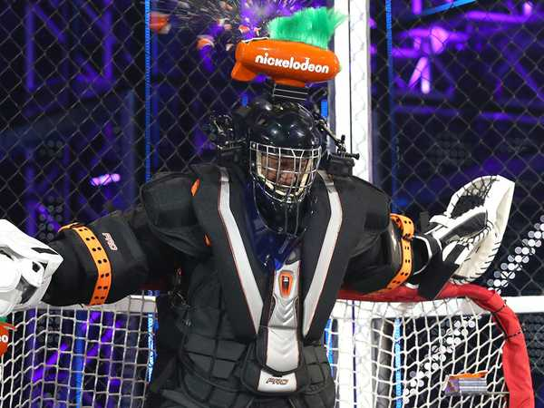 "Kids' Choice Sports 2016: ""Nick Cannon Hockey Head Shot by Tyler Toffoli"""