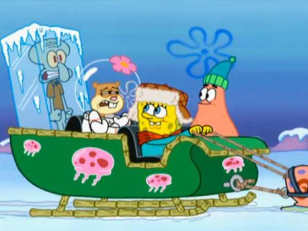 """SpongeBob SquarePants: """"Frozen Faceoff: Hop In!"""""""