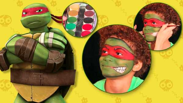 "Teenage Mutant Ninja Turtles: ""Raphael Makeup Tutorial"""