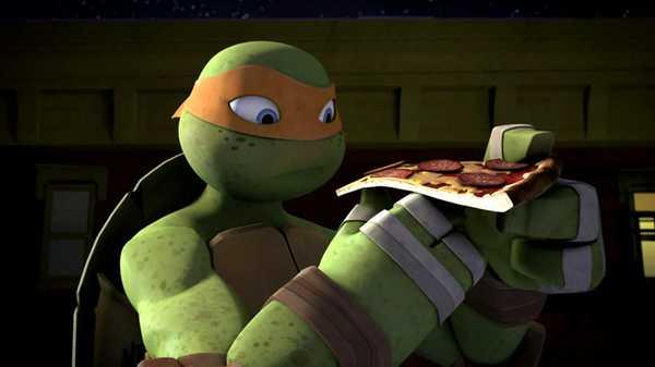 """Teenage Mutant Ninja Turtles: """"Trying Pizza"""""""