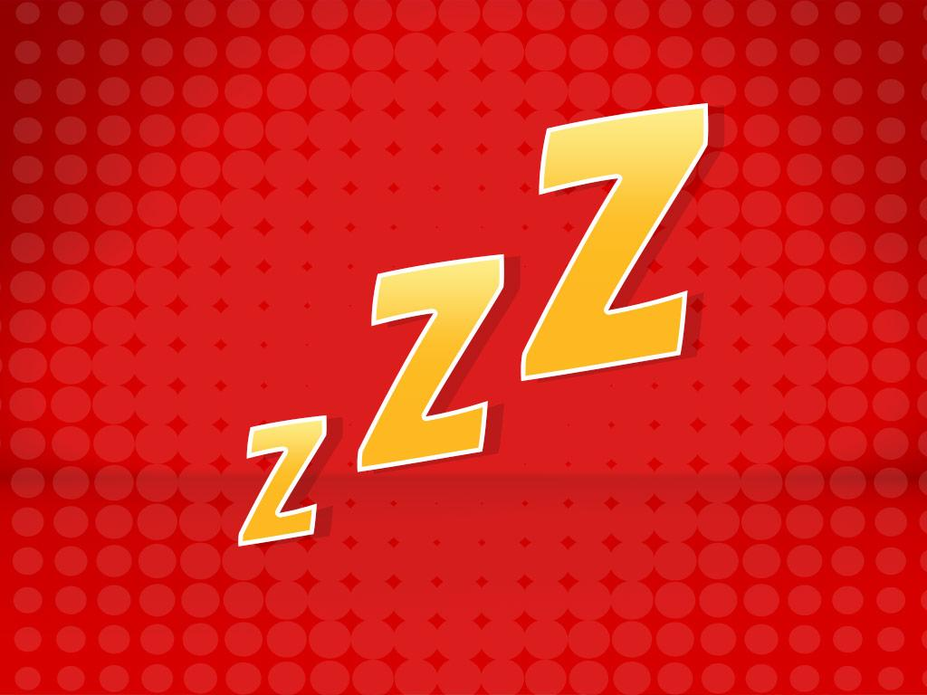 Sign 3: Zzzzz...