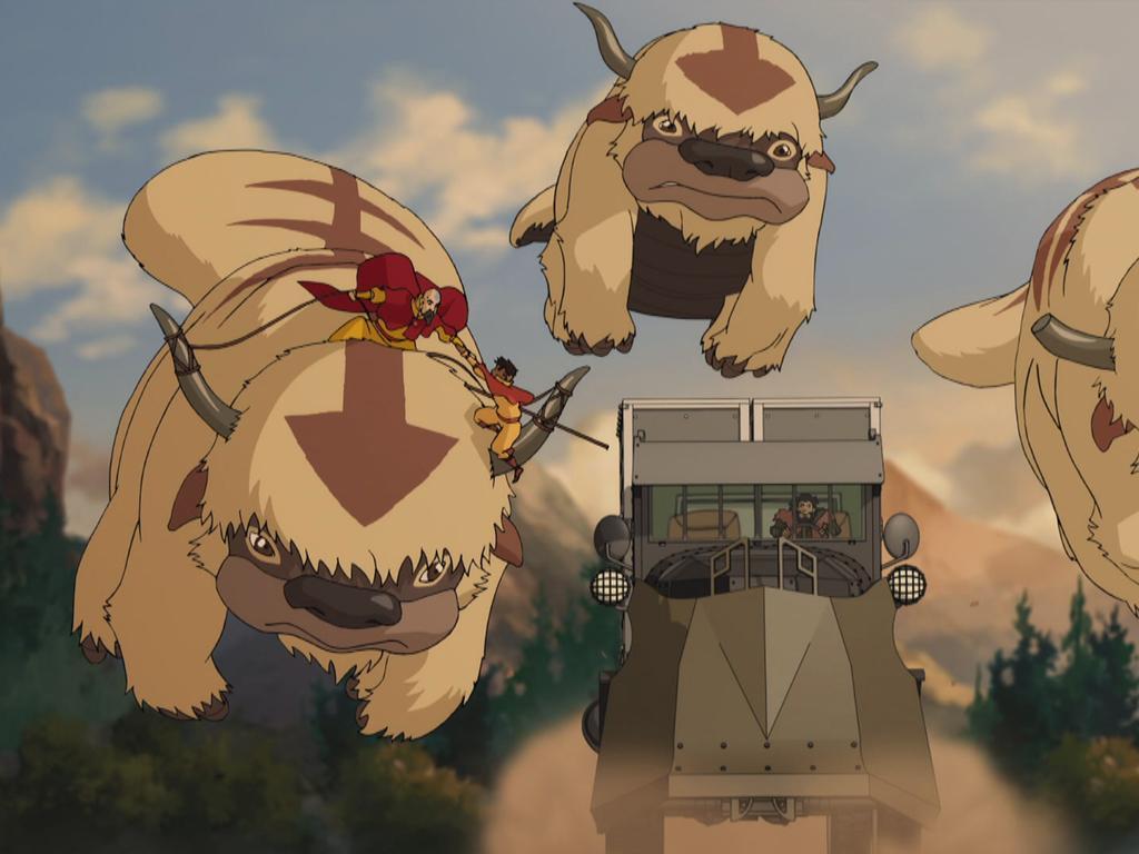Jinora & Kai Escape The Bison Poachers