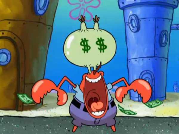 SpongeBob SquarePants: Mr. Krabs Hearts Money
