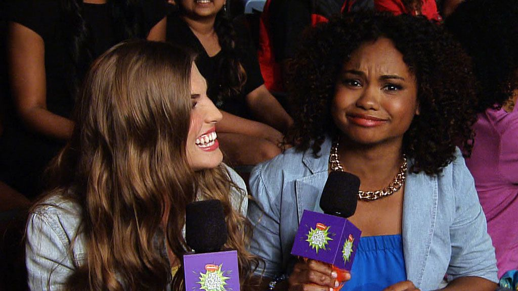Kids' Choice Awards 2013: Gabby & Malika Check In From The Audience Video Clip | Nick Videos