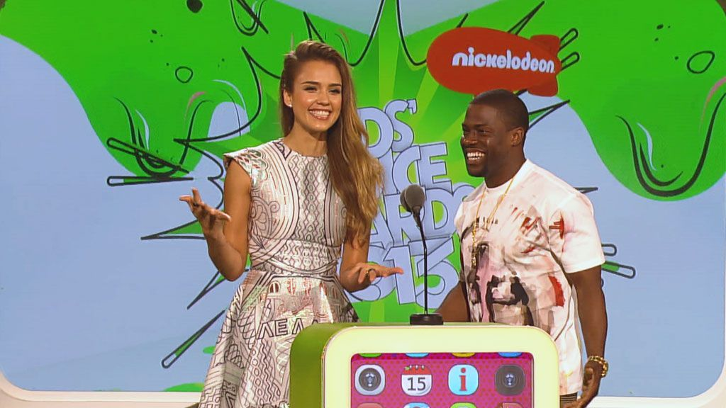 Kids' Choice Awards 2013: Jessica Alba and Kevin Hart Present Favorite TV Show Video Clip | Nick Videos