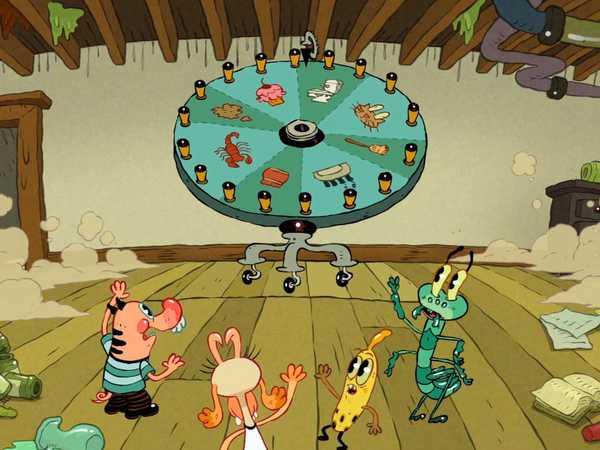 "Pig Goat Banana Cricket: ""The Chore Wheel"""