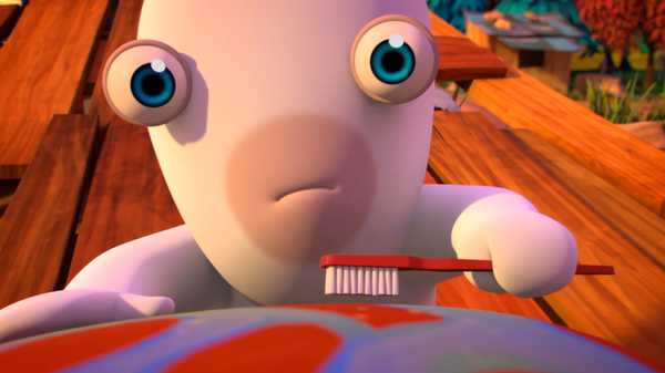"Rabbids Invasion: ""Rabbid Test Pilot/Rabbid Brass Band/Mini Rabbids vs. Giant Chicken"""