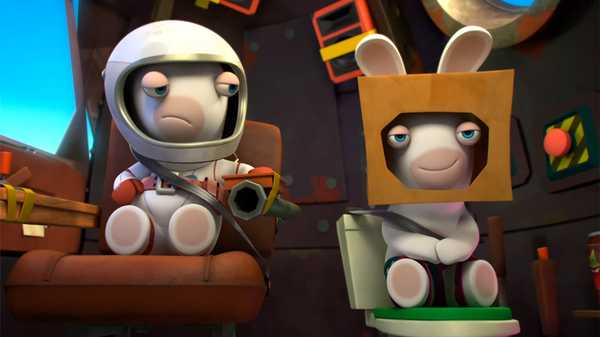 "Rabbids Invasion: ""Two Rabbids in Orbit/Rabbid Remote/Rabbid School"""