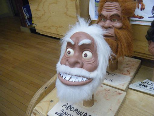 Inching Toward Abominable|The Glenn Martin design team experiments with different heads for their Abominable Snowman.
