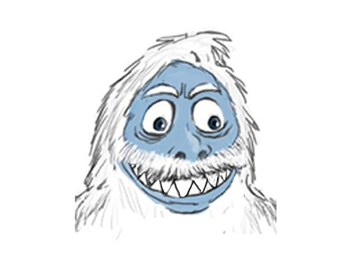 Abominable Outline|This sketch was where all of Glenn Martin's Abominable Snowman action started!