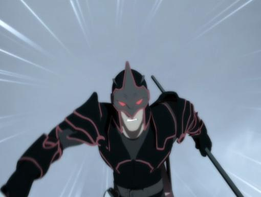 The Black Knight, a powerful bodyguard, uses his high-tech lance and armor to protect Count Nefaria.