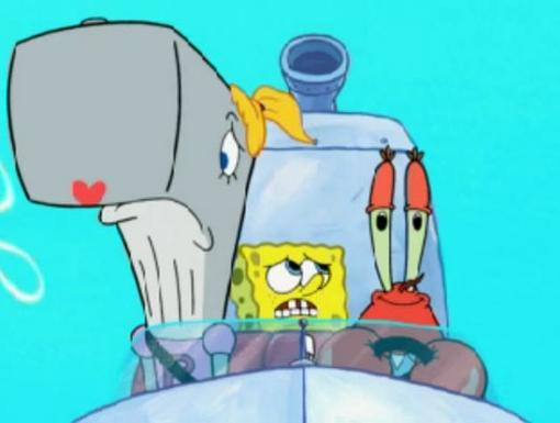 How in the world did Mr. Krabs convince SpongeBob to buy a seat on his family vacation with Pearl?!