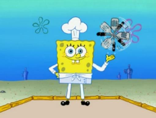 I hope you're hungry! Chef SquarePants readies his spatula for an epic Bikini Bottom barbecue.