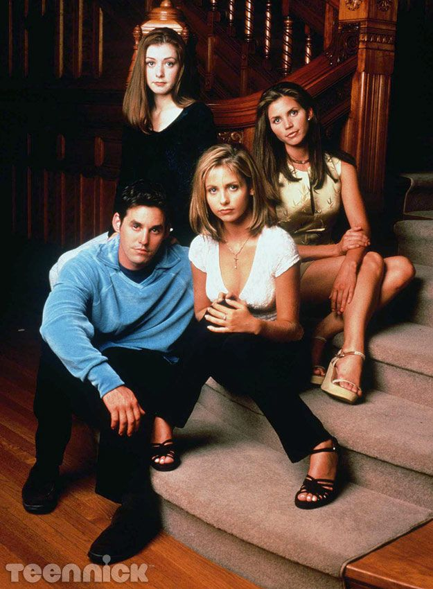 Xander, Willow, Buffy, and Cordelia