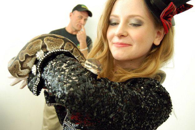 Degrassi's Charlotte Arnold, snake charmer