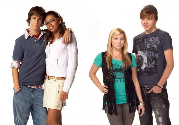 JT, Liberty, Jenna and KC -- characters from Degrassi who faced teen pregnancy