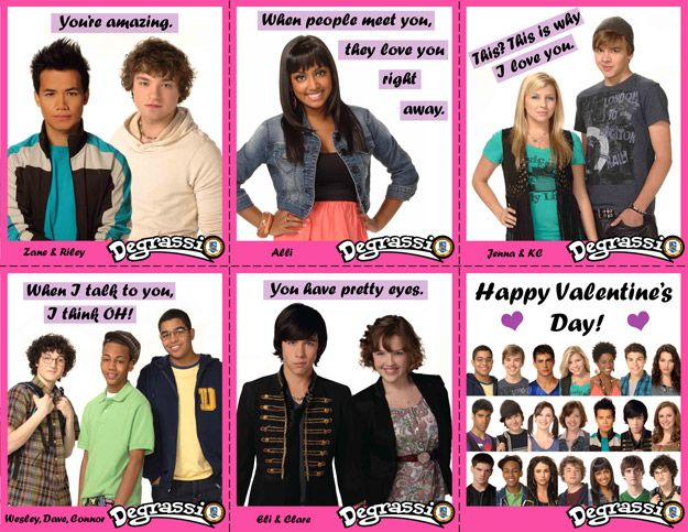 Degrassi Valentines - Set 1