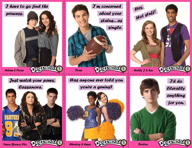 Degrassi Valentines - Set 2