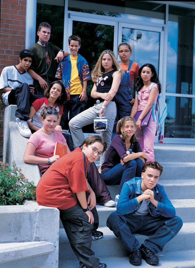Degrassi stairs pose.