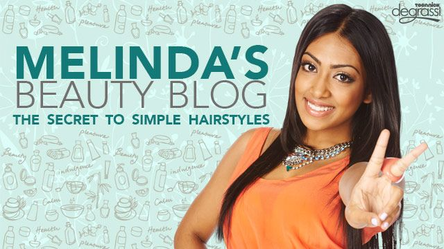 Melinda's Beauty Blog: Simple Hair