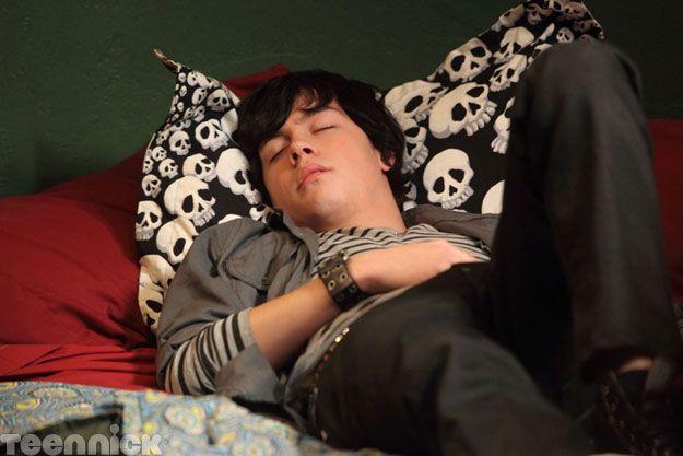 Aww, Eli's sleeping!