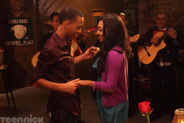 Dave (Jahmil French) and Alli (Melinda Shankar) share a dance.