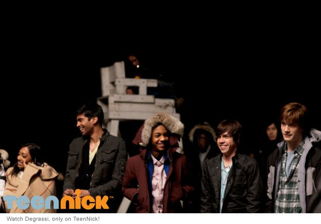 Alli, Sav, Dave, Eli and Jake in the Degrassi fireworks promo, photo by Olivia Bee